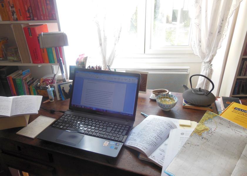 der Schreibtisch von Christine Cazon
