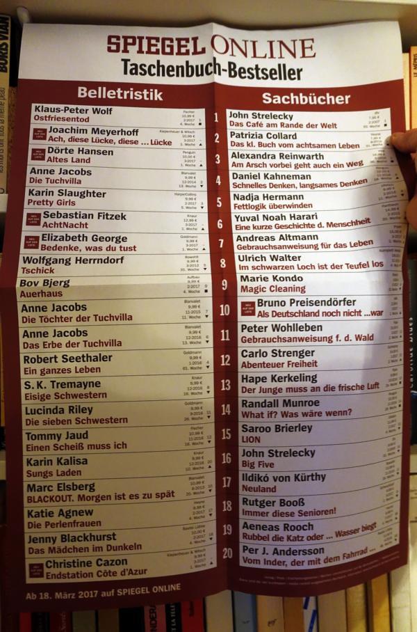 taschenbuch bestsellerliste thalia